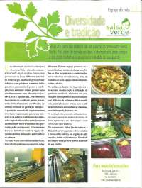 Destaque do Rest. Salsa Verde na Revista